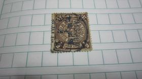 大清國郵政  倫敦蟠龍郵票 棕半分加蓋中華民國 YA9