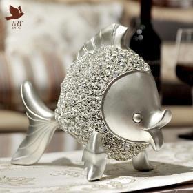 【只負責發現美】金燦燦與銀燦爛,滿室生輝。樹脂材料金魚擺件。品味之選,金與銀色可選