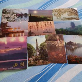 西湖  明信片1套10张
