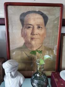 孤品 红色收藏 五十年代 毛泽东主席像 军装 标准像 约70厘米 同时期天安门城楼同款