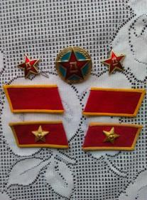 解放军 帽徽 领章