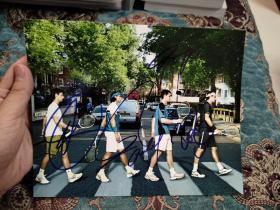 """【签名照】网球""""Big Four"""" 四巨头(德约科维奇、纳达尔、穆雷、费德勒)共同签名照片"""
