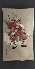 D615:回流手绘绢片人物(日本回流.回流老画.老字画)