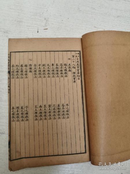 日用万事宝库第二十八编,种植宝库,各种蔬菜水果花草树木药材的种植方法。嫁接法。第二十九编畜养宝库,第三十编音乐宝库。