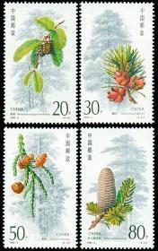 新中国邮票:1992-3T杉树特种邮票(全套4枚,水杉、银杉、秃杉、百山祖冷杉)