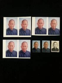 著名爱国将领张治中先生秘书、国务院参事 余湛邦(1914-2008) 个人照片九枚 底片两枚