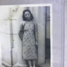 G 民国时期原版照片  旗袍美女照