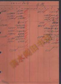抗战时期邮政储金汇业局昆明分局存款登记簿1页——存款人:一品香(西街)