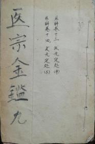 清木刻--御簒医宗金鉴(卷13、14一册)12.6X17.2X0.8cm