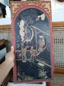 老木雕老画板老花板古董古玩老物件大花板