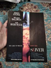 【签名照】好莱坞性感女神 情色片《本能》主演 莎朗·斯通 签名代表作 电影《偷窥》杂志彩色剧照