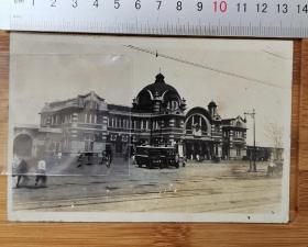 【古董级】老照片--抗战时期-----哈尔滨火车站