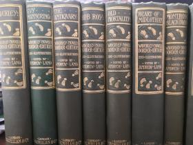 1912年精装古董书,欧洲历史小说鼻祖司各特《威佛利系列小说》,25册全,250幅整页版画插图,布面精装,英文原版,SCOTT THE WAVERLEY NOVELS