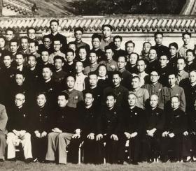 《小兵张嘎》作者徐光耀题词签名照片 第二届全国文代会合影1953年