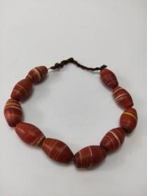 旧藏南红玛瑙珠,共10粒,原包奖极好 多说无益,玉质自然,识者珍之