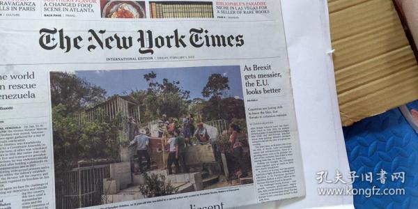 the new york times  紐約時報 2019年近期4份打包 英文報紙