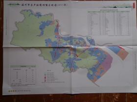 温州市区声环境功能区划图(2013年) 温州市生态环保工作图集 2017年 4开独版单面 温州市各类声环境功能区编号对照、代表位置、面积表 环境噪声限值表