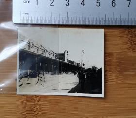 古董级老照片    哈尔滨车站