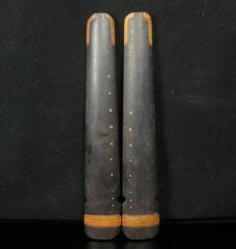 旧藏老乌木镇尺