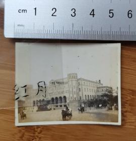 老照片古董级别的具备收藏价值    长春车站(满洲国时期新京车站)
