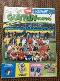 原版足球杂志 意大利体育战报1990 23期 意大利国家队世界杯参赛名单等内容 含82 90意大利队大幅海报一张