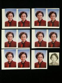 邓宝珊将军之女、国务院参事 邓引引 个人照片十二枚 底片一枚