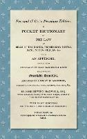 A Pocket Dictionary of the Law of Bills of Exchange, Promissory Notes, Bank Notes, Checks, &c. [1808]