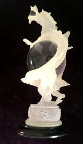 玻璃工艺品 小白龙 摆件 净重2.7公斤