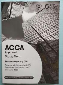 正版二手 ACCA Study Text Financial Reporting(FR) 英文版 9781509724062