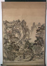 日本回流字画 中国裱  644号 超大山水