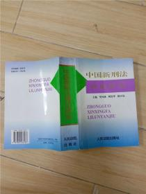 中国新刑法理论研究 (书脊受损)