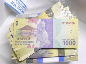 亚洲纸币美女头像1000元尼西亚 外国钱币