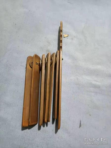 (箱14)老竹制 民俗樂器  說評書竹板,18*2cm
