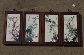 景德镇陶瓷大师手绘瓷板画171120021人物山水花鸟装饰画客厅摆件