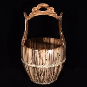 清乾隆木纹釉水桶