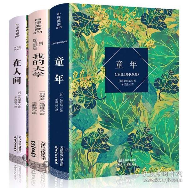 3册 童年在人间我的大学正版高尔基著 童年书高尔基 中译典藏文库全译本无删减世界文学名著小说 童年书六年级正版文学名著书籍