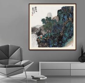 中国国家画院画家王振羽四尺斗方精品山水