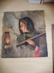 手绘布面油画