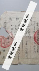 山东省潍坊特别市市政府颁发——建筑执照——建筑地址:北关区坝堐街
