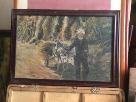 老油画一幅 画的非常好 邮寄时拆框 不拆框运费自理  50x70