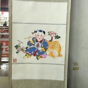 楊柳青木版年畫  春