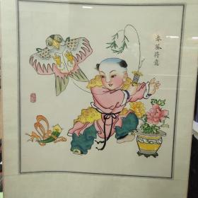 楊柳青年畫 春風得意