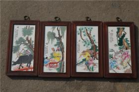 景德镇陶瓷大师手绘瓷板画171120076人物山水花鸟装饰画客厅摆件