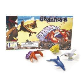 海边玩具套装 英文原版 At the Seashore Board Book (Junior Groovies) 玩具书 纸板书 3-6岁