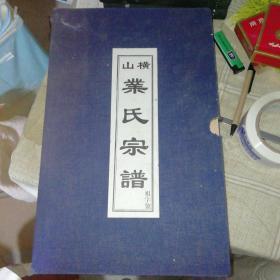 横山业氏宗谱 后续宗谱 共18卷不全