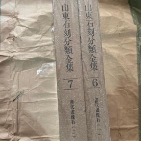 山东石刻分类全集(第六卷、第七卷)两册合售。