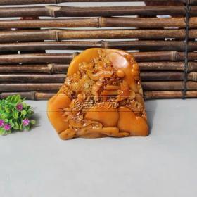 精美寿山石原石客厅观赏石摆件芙蓉石雕奇石玉石装饰摆件送礼07