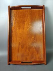 1621 ,回流实木大漆,木茶盘,长47厘米,宽30厘米,高4厘米,尺寸大,原盒子