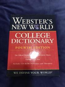 2005年 美国制造 Webster's New World College Dictionary 4th Edition 韦伯斯特新世界大学词典 红手扣 美国带回 非国内电商版