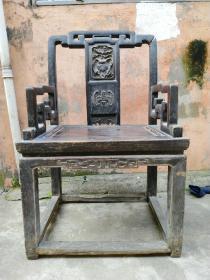 椅子扶手椅,清早期大榉木椅